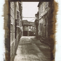 Gum bichromate Street in Pontevedra