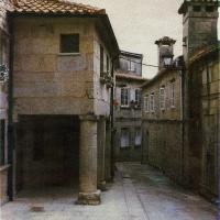 Gum bichromate Street in Pontevedra_color
