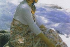 Gum bichromate Bathing woman in Turkey
