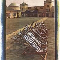 Gum-over-cyanotype-Deckchairs