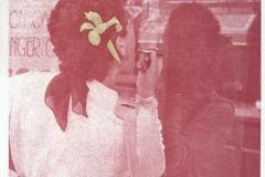 Gum bichromate Woman with Iris