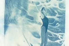 Cyanotype Untitled Linen