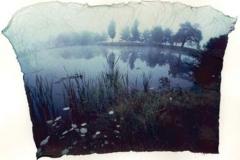 Polaroid emulsion lift pond horizon waterville maine