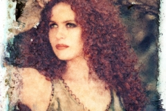 Polaroid image transfer Sandra 1
