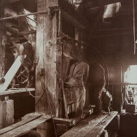Vandyke brown Apparitions, Cleary Hill Stamp Mill, Cleary, Ak