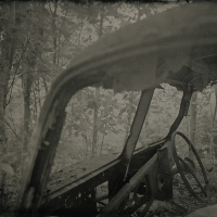 Wetplate collodion Scrapped Car