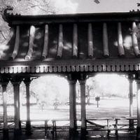 Polaroid transfer Pagoda