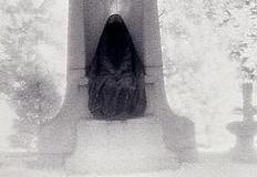 Polaroid transfer Dark angel