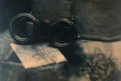 Handcoloured photograph Backward glance