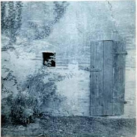 Cyanotype Italy door