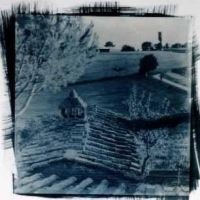 Cyanotype Italy view