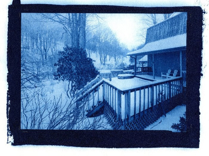 Cyanotype Back porch