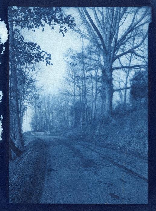 Cyanotype Blue road