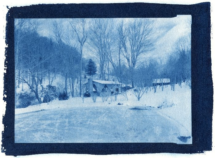 Cyanotype Cook shed