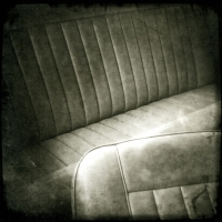 Photopolymer gravure Back Seat in Turnmoil