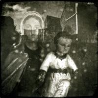 Photopolymer gravure Madonna in Veil