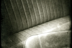 Photopolymer gravure Back Seat in Turnmoil