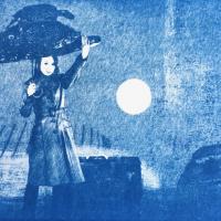 Cyanotype-Caution-Falling-Rain