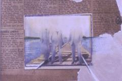 Polaroid image transfer Headless hobos