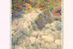 Polaroid image transfer Stones and tile