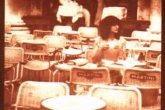 Vandyke Girl at cafe
