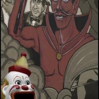 Palladium hand coloured Bozo and Satan