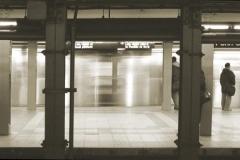 Platinum print Express Train