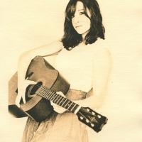 Lith print Meg with Guitar