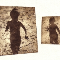 Polymer Gravure Boys on the Beach