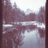 Chrysotype Yosemite Half Dome over Merced River