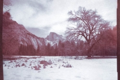 Chrysotype Yosemite Winter View of Half Dome