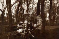Albumen print 05 Winter in the Shaded Gardens of Bucharest