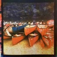 Tri-color Gum over Cyanotype CanoeTrip.Day'sEndAtHarvey's