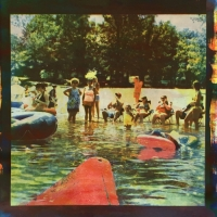 Tri-color Gum over Cyanotype CanoeTrip.FamilyVacation