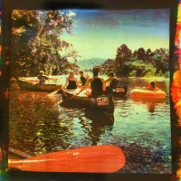 Tri-color Gum over Cyanotype CanoeTrip.FloatingJack'sFork