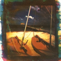Tri-color Gum over Cyanotype Sailboats