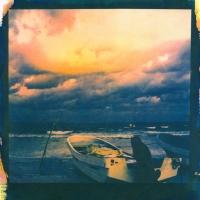 Tri-color Gum over Cyanotype Sunrise