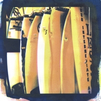 Tri-color Gum over Cyanotype Surfboards