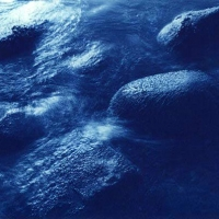 Cyanotype Boulders in the Flow, Scapa