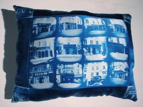 Cyanotype Pillow wet dreams