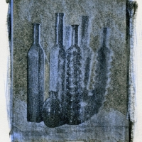 Gum bichromate Blue Glass