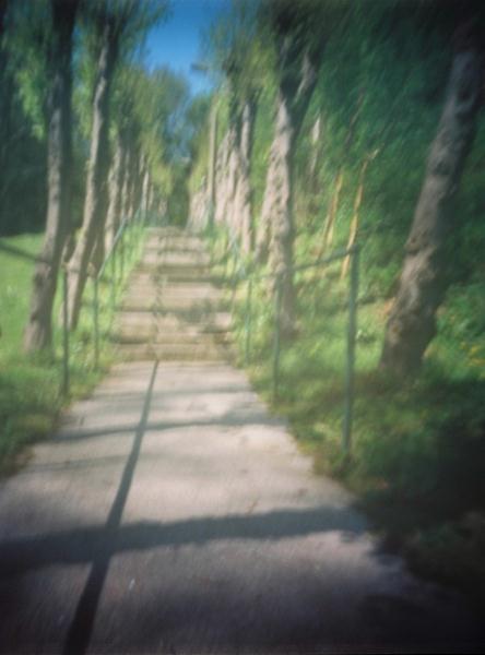 Pinhole Steps with shadow grid