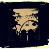 Cyanotype Tarragona cathedral cloister