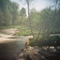 Pinhole Dean Weir Water of Leith