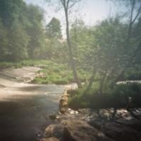 Pinhole Dean Weir Water of Leith