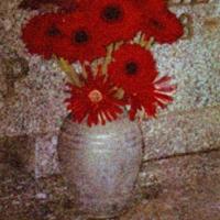Tempera print a rose so red