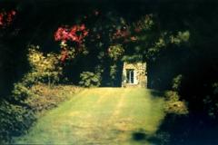 Tempera print abbey gardens