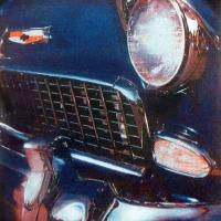 Casein pigment print Blue grill
