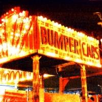 Casein pigment print Carnival Bumper Cars