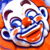 Casein pigment print Carnival Clown